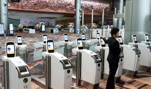 facial recognition scanners at airport