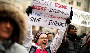 internet freedom protest in the USA for net neutrality