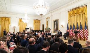 Presidential Social Media Summit in the East Room of the White House