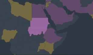 sudan freedom on the net 2019 map screenshot